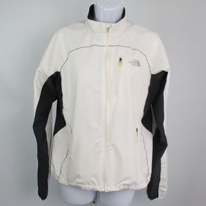 The North Face white gray lightweight jacket